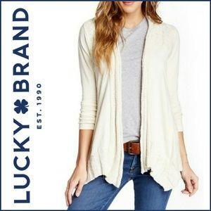 Lucky Brand Cream Sweater Yoke Wrap